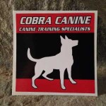 Small Cobra Canine Sticker