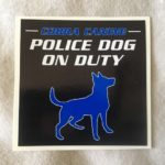 police dog on duty sticker